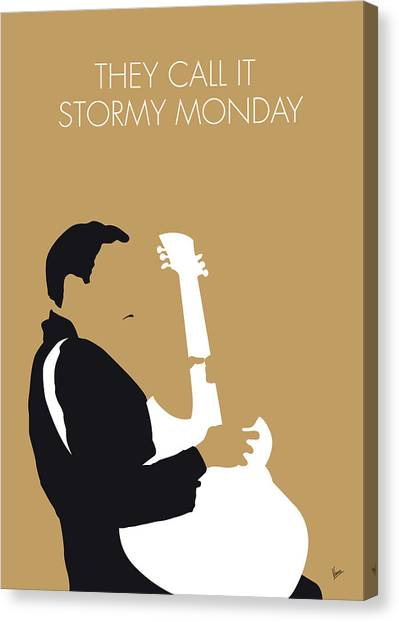 Electric Guitars Canvas Print - No070 My Tbone Walker Minimal Music Poster by Chungkong Art