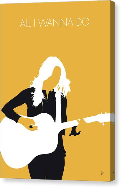 Crows Canvas Print - No074 My Sheryl Crow Minimal Music Poster by Chungkong Art