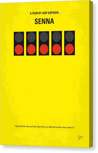 South American Canvas Print - No075 My Senna Minimal Movie Poster by Chungkong Art