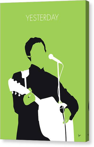 Paul Mccartney Canvas Print - No076 My Paul Mccartney Minimal Music Poster by Chungkong Art
