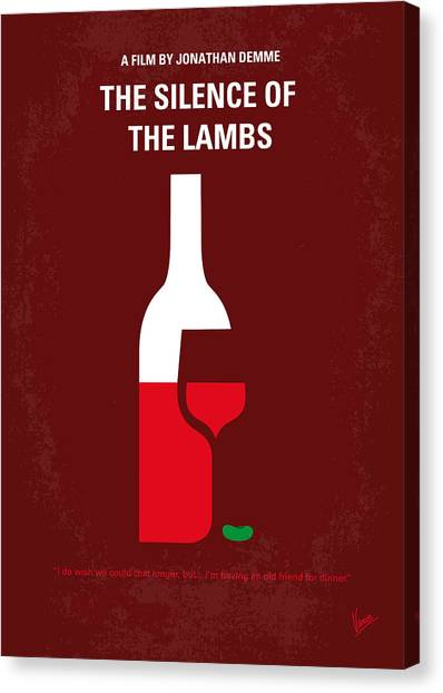 Anthony Hopkins Canvas Print - No078 My Silence Of The Lamb Minimal Movie Poster by Chungkong Art