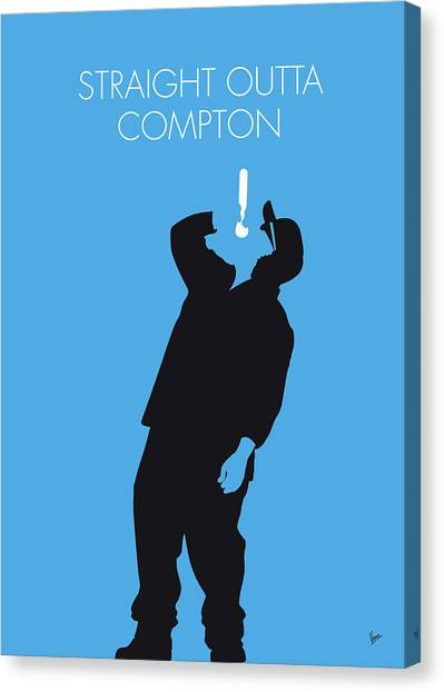 Hip Hop Canvas Print - No079 My Nwa Minimal Music Poster by Chungkong Art