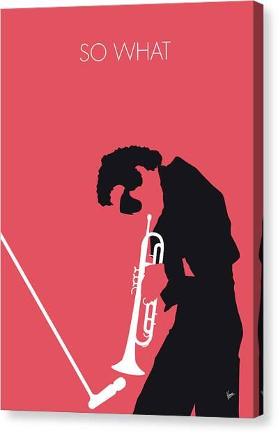 Trumpeters Canvas Print - No082 My Miles Davis Minimal Music Poster by Chungkong Art