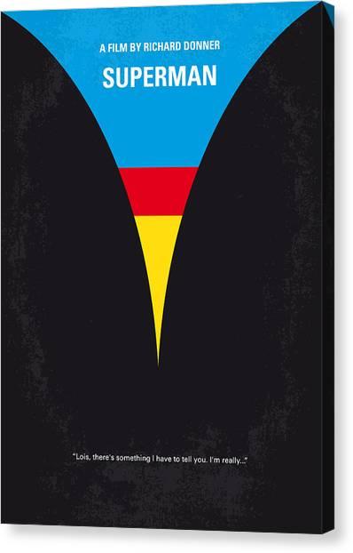 Metropolis Canvas Print - No086 My Superman Minimal Movie Poster by Chungkong Art
