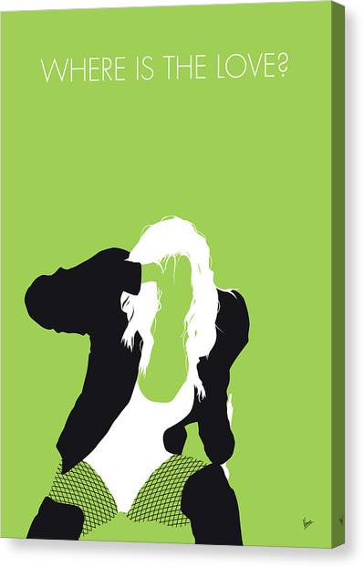 Hip Hop Canvas Print - No086 My The Black Eyed Peas Minimal Music Poster by Chungkong Art