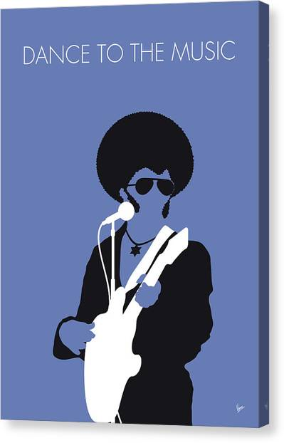 Sly Canvas Print - No088 My Sly And The Family Stone Minimal Music Poster by Chungkong Art