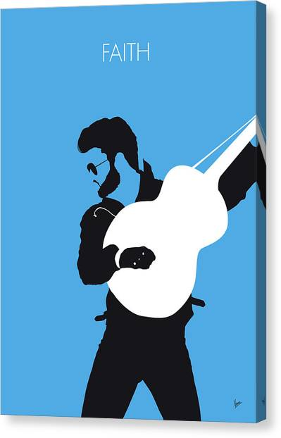 Rhythm And Blues Canvas Print - No089 My George Michael Minimal Music Poster by Chungkong Art