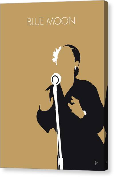 50s Canvas Print - No090 My Billie Holiday Minimal Music Poster by Chungkong Art