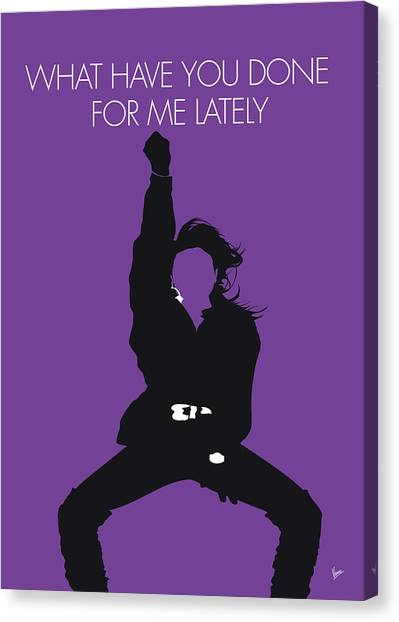Rhythm And Blues Canvas Print - No091 My Janet Jackson Minimal Music Poster by Chungkong Art