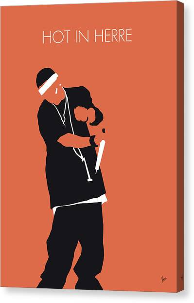 Hip Hop Canvas Print - No093 My Nelly Minimal Music Poster by Chungkong Art