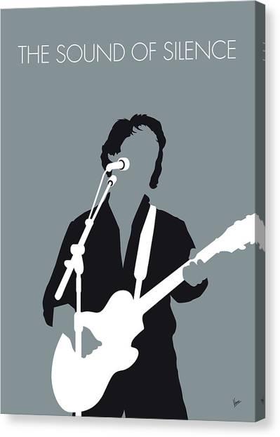 Simon Canvas Print - No097 My Paul Simon Minimal Music Poster by Chungkong Art