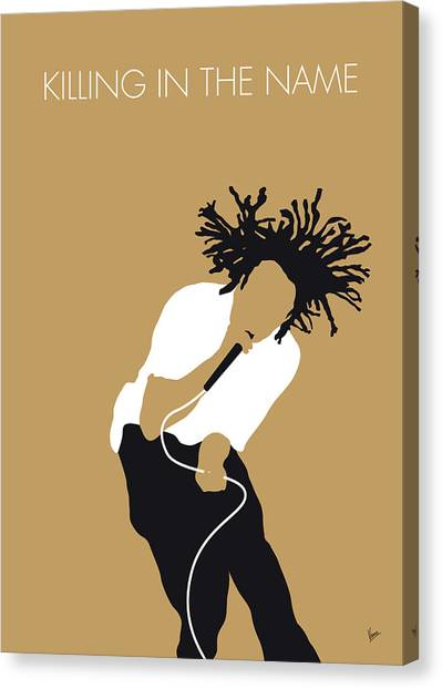 Machinery Canvas Print - No100 My Rage Against The Machine Minimal Music Poster by Chungkong Art