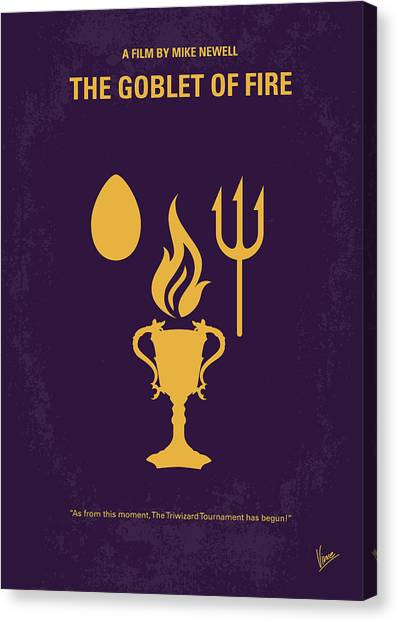Fire Canvas Print - No101-4 My Hp - Goblet Of Fire Minimal Movie Poster by Chungkong Art