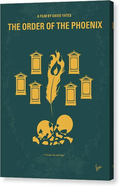 Phoenix Canvas Print - No101-5 My Hp - Order Of The Phoenix Minimal Movie Poster by Chungkong Art