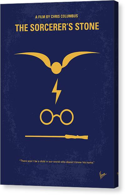 No101 My Harry Potter Minimal Movie Poster Canvas Print