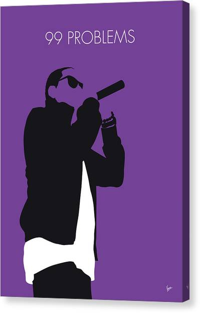 Jay Z Canvas Print - No101 My Jay-z Minimal Music Poster by Chungkong Art