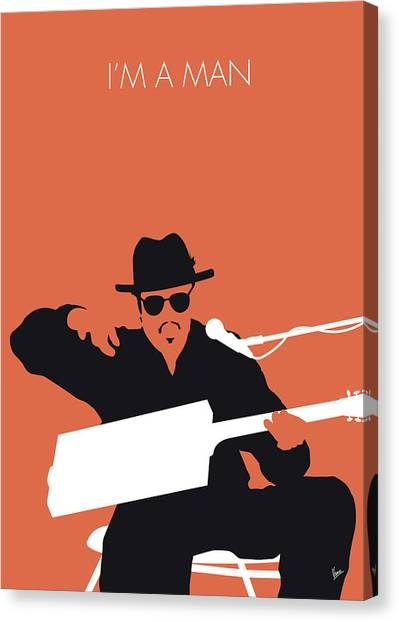 Rhythm And Blues Canvas Print - No103 My Bo Diddley Minimal Music Poster by Chungkong Art