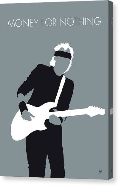 Money Canvas Print - No107 My Mark Knopfler Minimal Music Poster by Chungkong Art