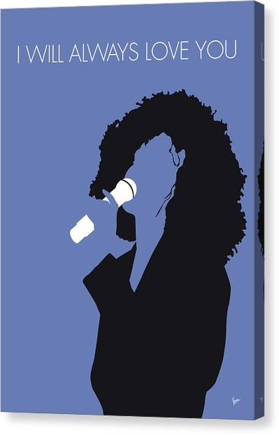 Houston Canvas Print - No108 My Whitney Houston Minimal Music Poster by Chungkong Art