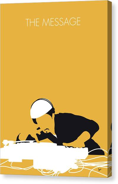 Hip Hop Canvas Print - No114 My Grandmaster Flash Minimal Music Poster by Chungkong Art