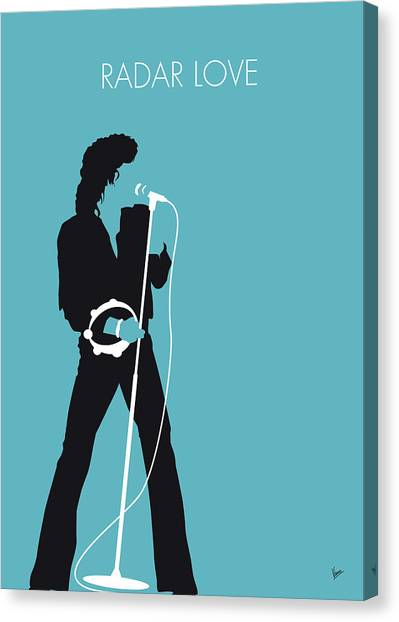 Driving Canvas Print - No115 My Golden Earring Minimal Music Poster by Chungkong Art