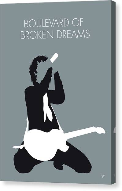 Green Day Canvas Print - No117 My Green Day Minimal Music Poster by Chungkong Art