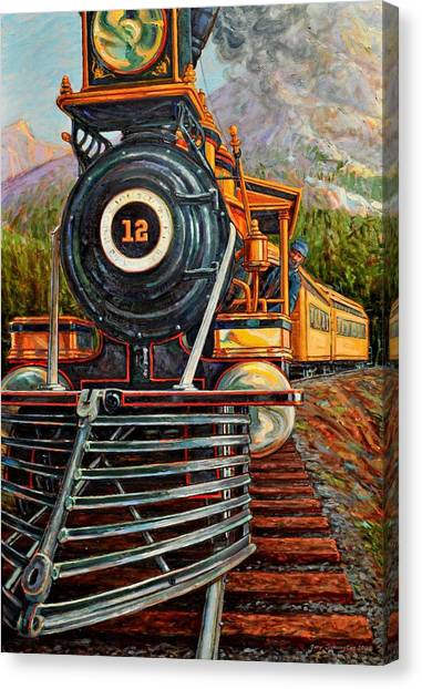 No.12 In The Mountains Canvas Print by Gary Symington