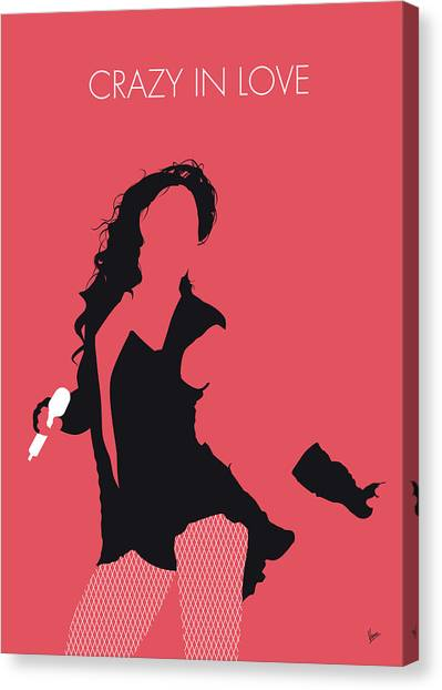 Jay Z Canvas Print - No122 My Beyonce Minimal Music Poster by Chungkong Art