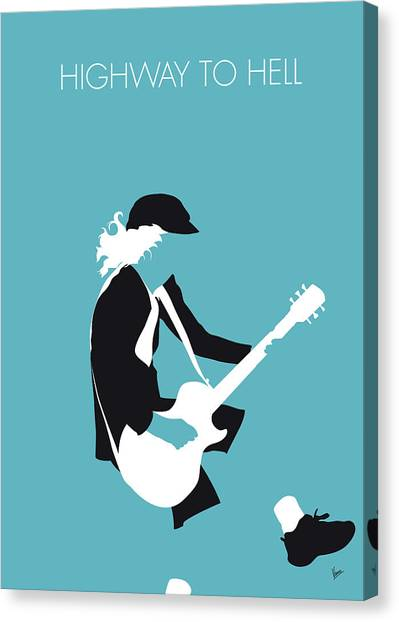 Highway Canvas Print - No125 My Acdc Minimal Music Poster by Chungkong Art