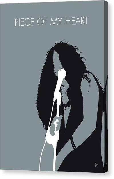 Janis Joplin Canvas Print - No127 My Janis Joplin Minimal Music Poster by Chungkong Art