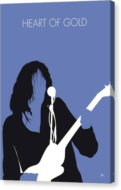 Neil Young Canvas Print - No128 My Neil Young Minimal Music Poster by Chungkong Art