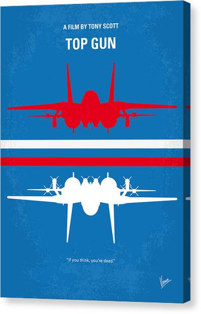 Hollywood Canvas Print - No128 My Top Gun Minimal Movie Poster by Chungkong Art