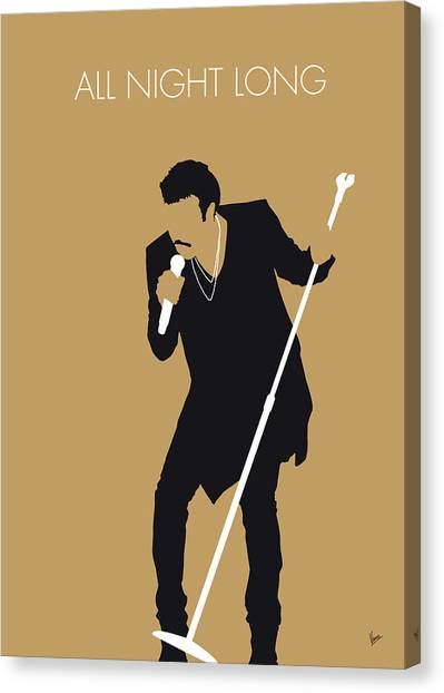 All Star Canvas Print - No130 My Lionel Richie Minimal Music Poster by Chungkong Art
