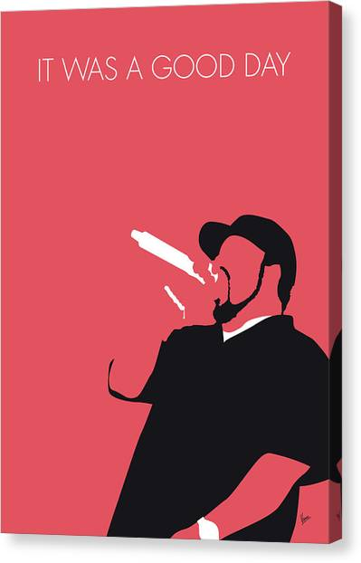 Hip Hop Canvas Print - No132 My Ice Cube Minimal Music Poster by Chungkong Art