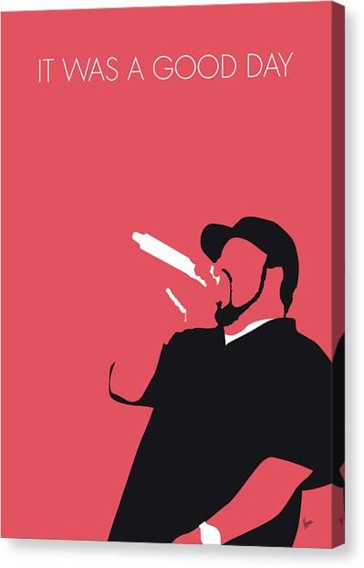 Hip Hop Canvas Print - No132 My Ice Cube Minimal Music Poster by Chungkong Art