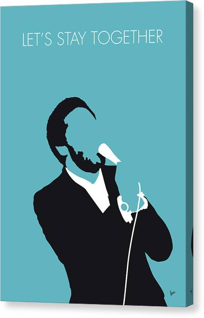 Rhythm And Blues Canvas Print - No135 My Al Green Minimal Music Poster by Chungkong Art