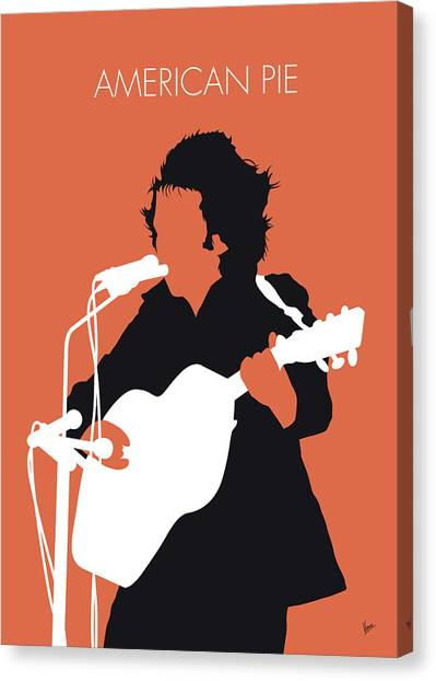 Pies Canvas Print - No143 My Don Mclean Minimal Music Poster by Chungkong Art