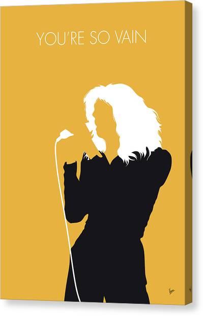 Simon Canvas Print - No144 My Carly Simon Minimal Music Poster by Chungkong Art