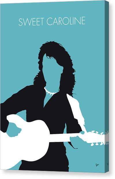 Diamonds Canvas Print - No145 My Neil Diamond Minimal Music Poster by Chungkong Art
