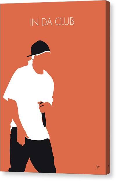 Eminem Canvas Print - No153 My 50 Cent Minimal Music Poster by Chungkong Art