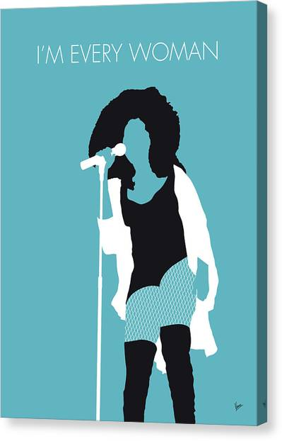Rhythm And Blues Canvas Print - No155 My Chaka Khan Minimal Music Poster by Chungkong Art