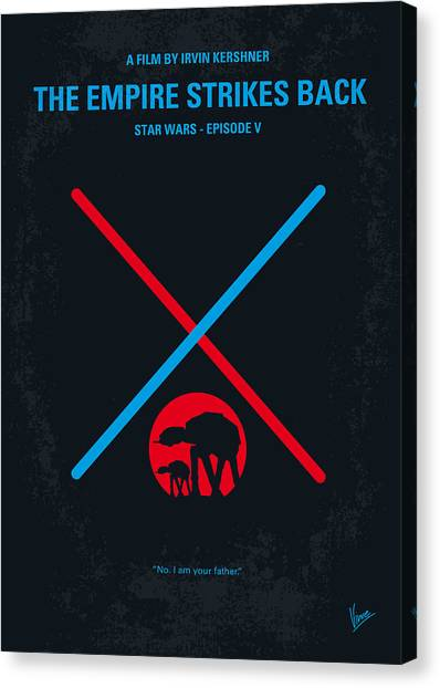 No155 My Star Wars Episode V The Empire Strikes Back Minimal Movie Poster Canvas Print