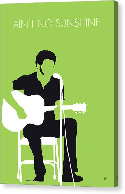 Rhythm And Blues Canvas Print - No156 My Bill Withers Minimal Music Poster by Chungkong Art