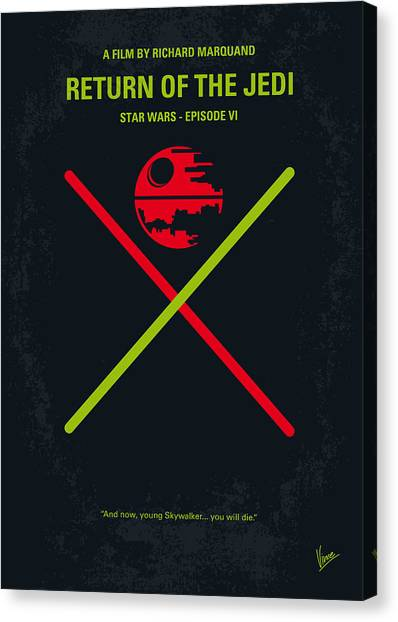 Jedi Canvas Print - No156 My Star Wars Episode Vi Return Of The Jedi Minimal Movie Poster by Chungkong Art