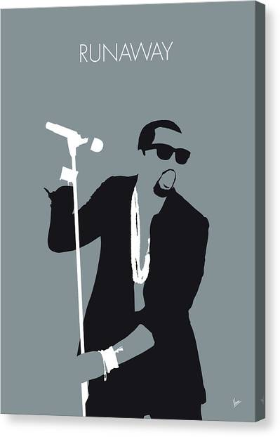 Hip Hop Canvas Print - No157 My Kanye West Minimal Music Poster by Chungkong Art