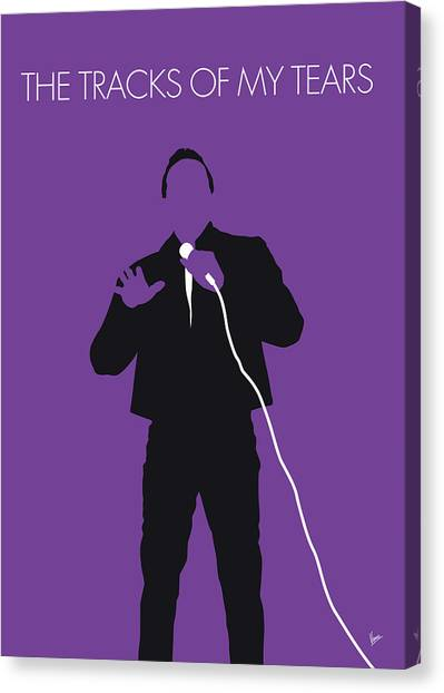 Rhythm And Blues Canvas Print - No161 My Smokey Robinson Minimal Music Poster by Chungkong Art