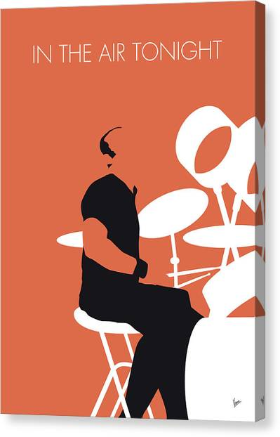 80s Canvas Print - No163 My Phil Collins Minimal Music Poster by Chungkong Art