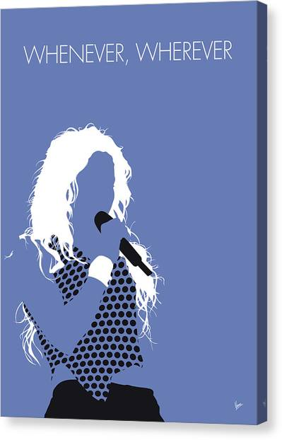 South American Canvas Print - No168 My Shakira Minimal Music Poster by Chungkong Art