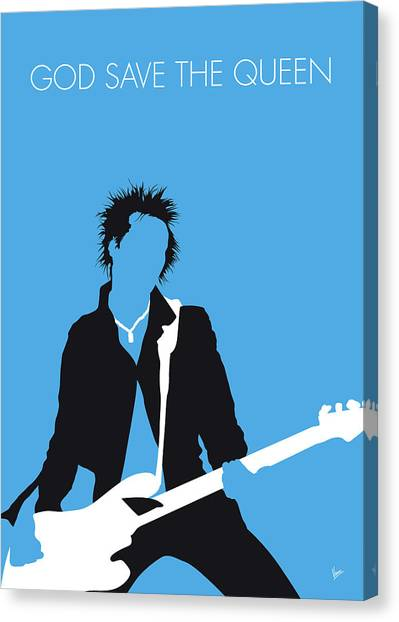 Pistols Canvas Print - No169 My Sex Pistols Minimal Music Poster by Chungkong Art