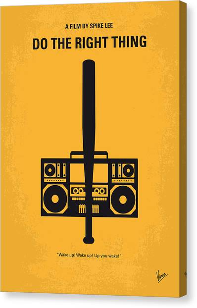Hip Hop Canvas Print - No179 My Do The Right Thing Minimal Movie Poster by Chungkong Art